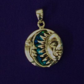 Turqoise Sun and Moon Pendant